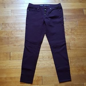 Mossimo Maroon Super Stretch Skinny size 8R